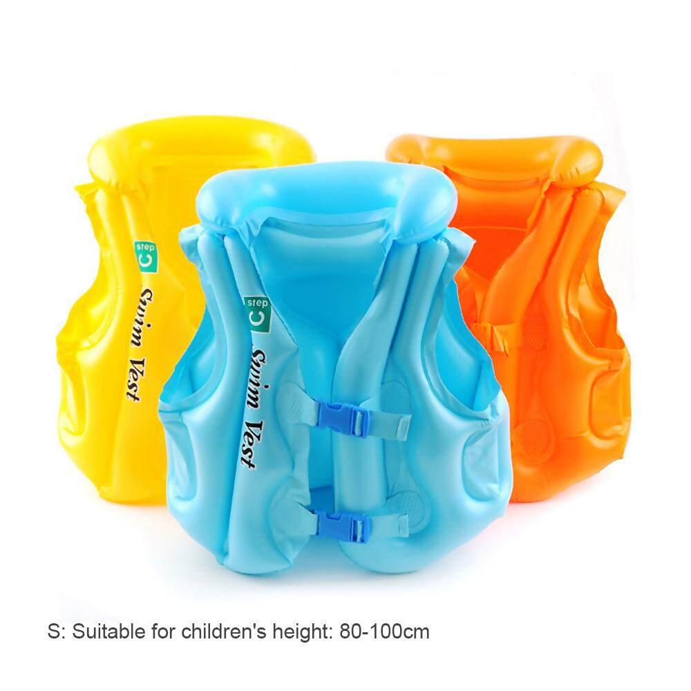 Vanker-PVC Tiup Jaket Udara Bantuan Float Laut Kolam Renang Rompi Anak Bayi Anak Anak