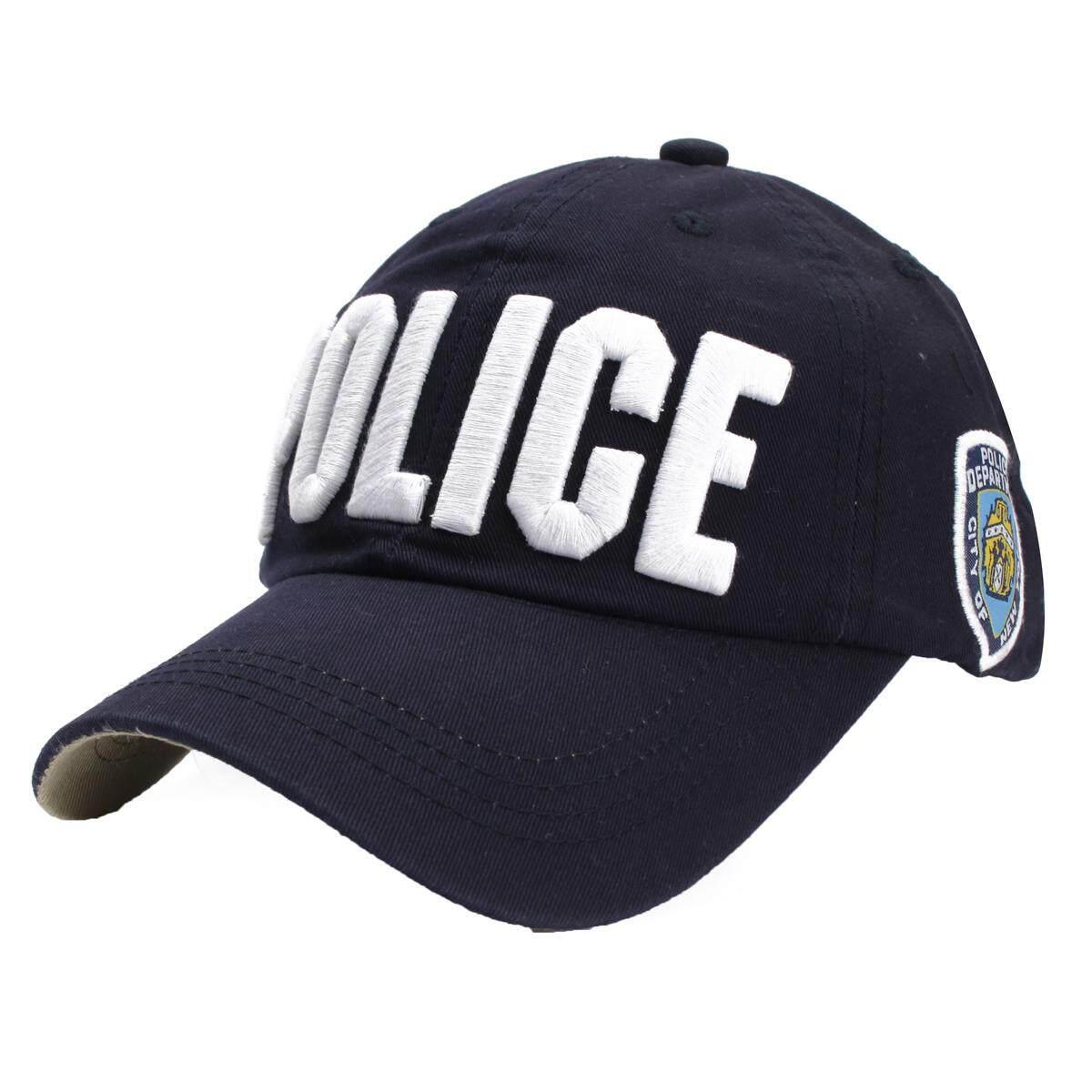 Wanita Pria Polisi Penegakan Hukum Kostum Polisi Topi Bola Baseball Visor Topi