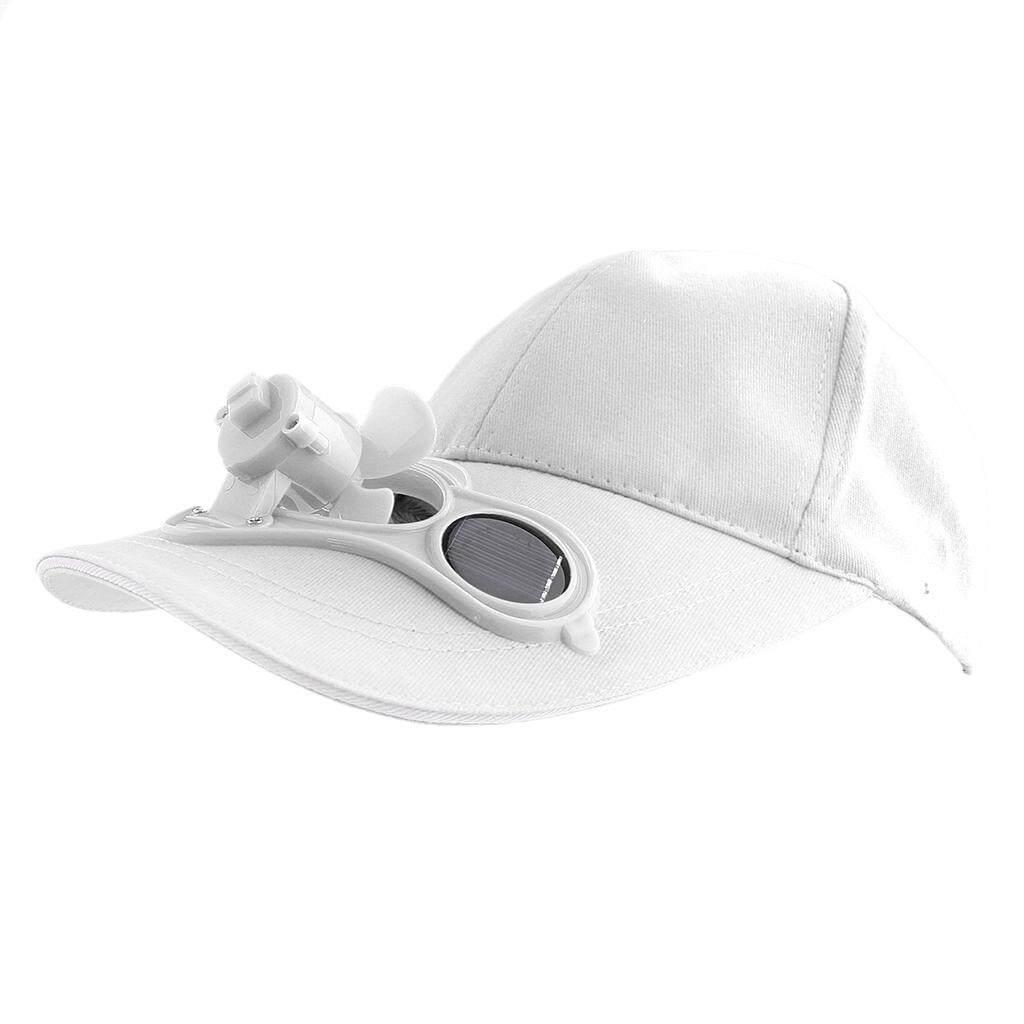 Miracle Bersinar Olahraga Memancing Bisbol Golf Tenaga Surya Power Kipas Pendingin Topi Topi Putih-Internasional