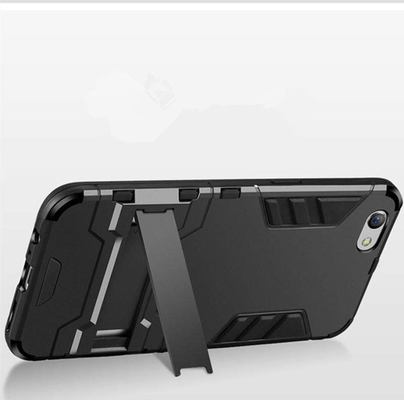 Detail Gambar For VIVO Y71 Case Rugged Amor Shockproof Silicone Bumper + Hard Plastic Back Casing Cover Terkini