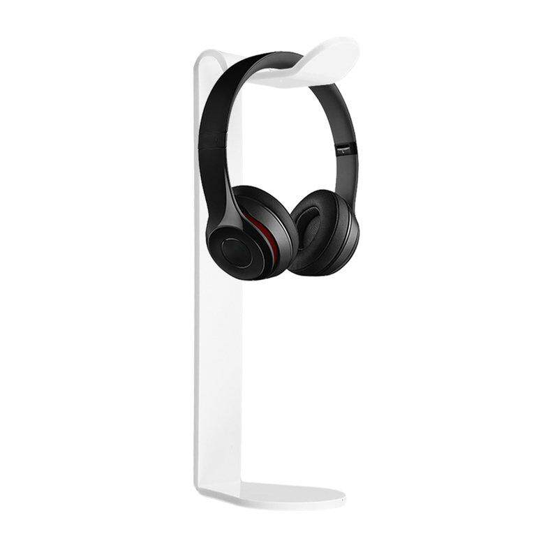 Akrilik Earphone Headset gantungan pemegang Headphone Fashion meja Display Stand