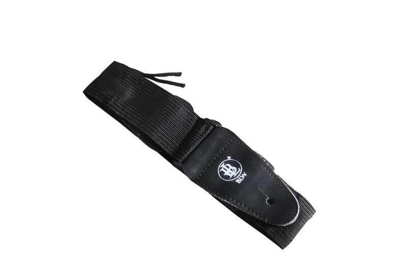 [USE VOUCHER 10% OFF] BLW Basic Adjustable Guitar Strap (Black) Malaysia