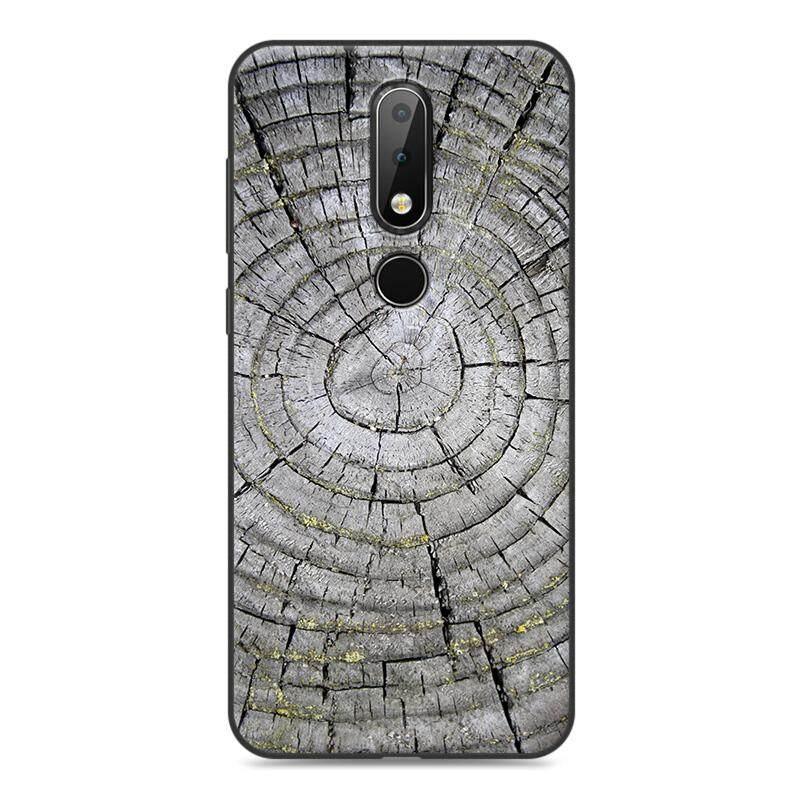 Topias Plating Kayu Pattem Lembut TPU Sillicon Case untuk Nokia X6 2018 5.8 Inches-Intl