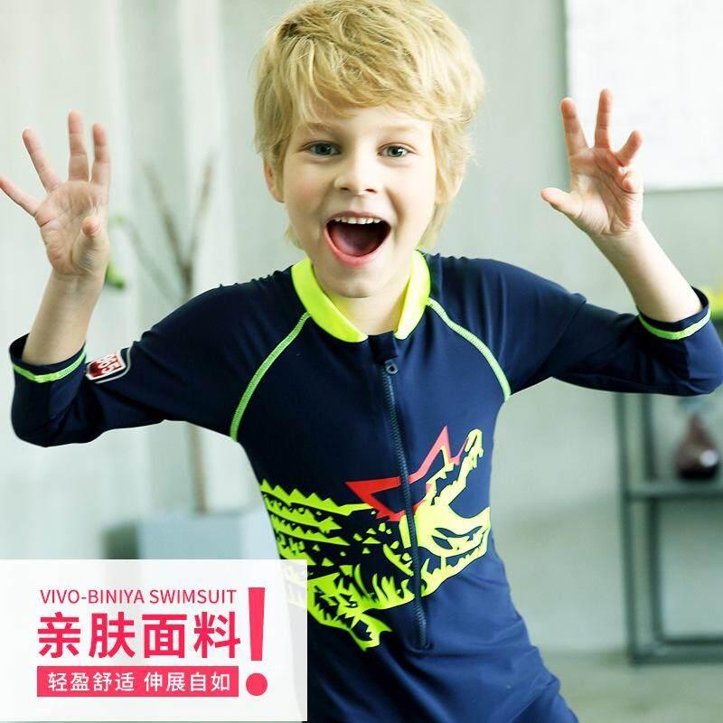 Detail Gambar Korea Baju Renang Anak Boy Baju Renang Setelan untuk Panas Matahari Pakaian Renang Anak Laki-laki Anak Kartun Pakaian Landen-Intl Terbaru