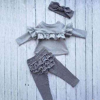 Pencarian Termurah Balita Anak-anak Bayi Gadis Ruffle Atasan Kotak-kotak Celana Legging 3 Pcs Pakaian Pakaian harga penawaran - Hanya Rp120.834