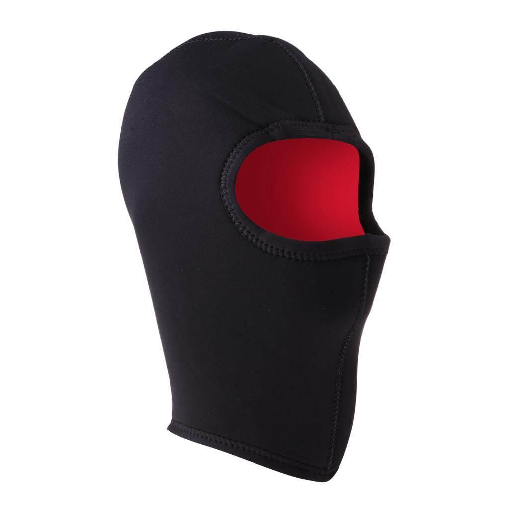 ec9de117e10 Flameer 5mm Neoprene Wetsuit Hood Thermal Scuba Diving Cap Full Face Mask Head  Cover