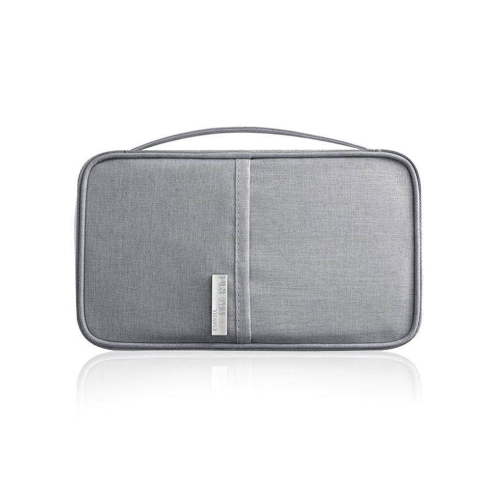 a22c17aca25 Umiwe Travel Wallet Passport Holder Document Card Organiser Case Small  Clutch With Hand Strap Zip Closure