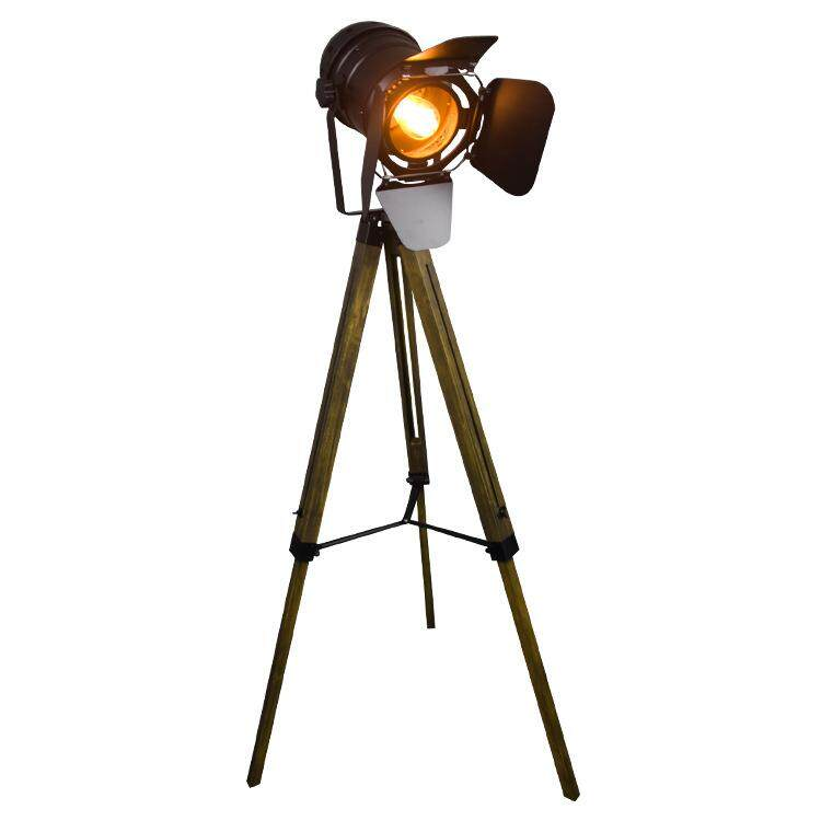 retro solid wood E27 bulb floor lamp 1-1.5 meters height iron art floor lamp spot floor light industrial style living room bedroom floor lamp