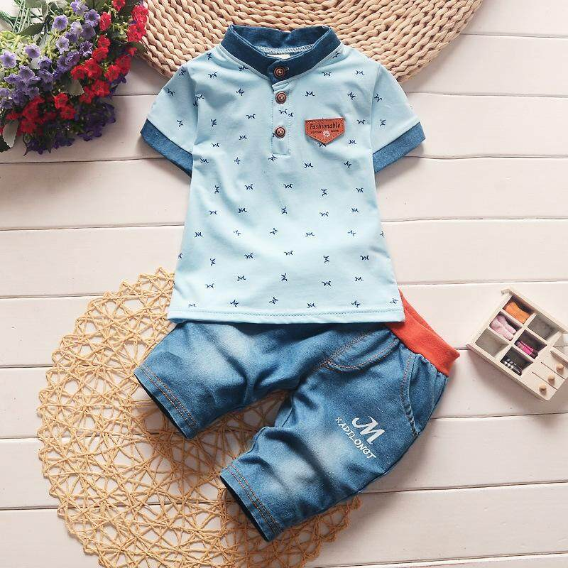 Summer Baby Boys Clothing Sets Kids Clothes Sets Cartoon 2pcs Suit Fashion Style Kkids Summer Sport