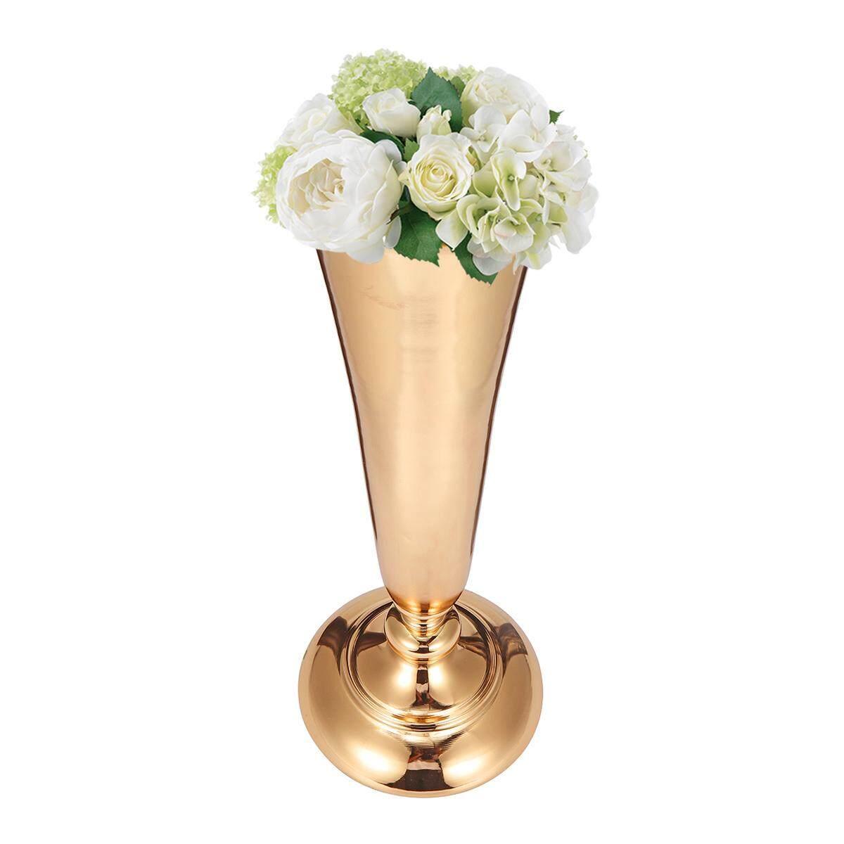 Large 40cm Stunning Gold Iron Luxury Vase Urn Wedding Table Centrepiece #B