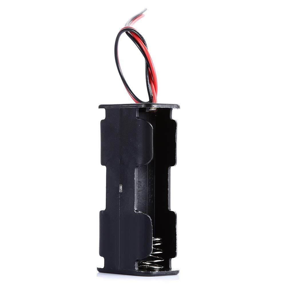 Alat DIY, LDTR-DJ001 DIY 3 V 2-Slot/2 X Baterai AA Ganda Deck/Kembali Ke Belakang Pemegang UNTUK ARDUINO.