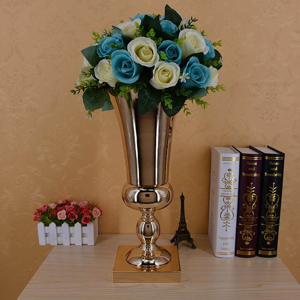 Sway 1pc 43cm Large Stunning Silver Iron Luxury Flower Vase Urn Wedding Table Centrepiece (Flowers are NOT included)