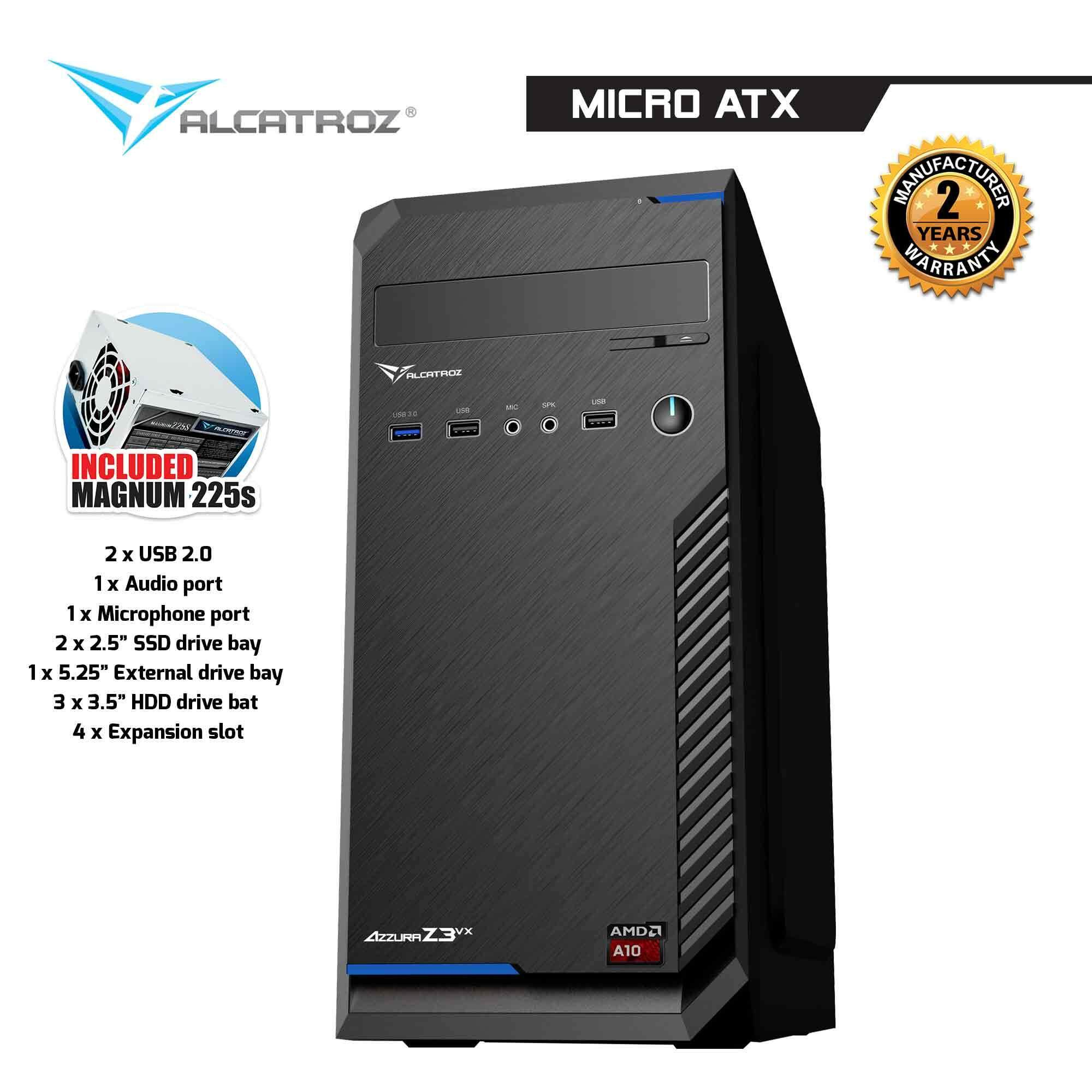 Azzura Z3VX PC Chassis with 225W PSU By Alcatroz Malaysia