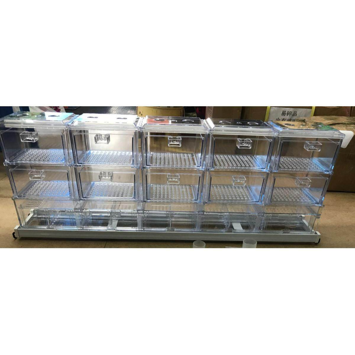 Acrylic Transparent Aquarium External Drawer Water Filter Trickle Upper Drop Box Fish Tank System  10 Boxes By Glimmer.