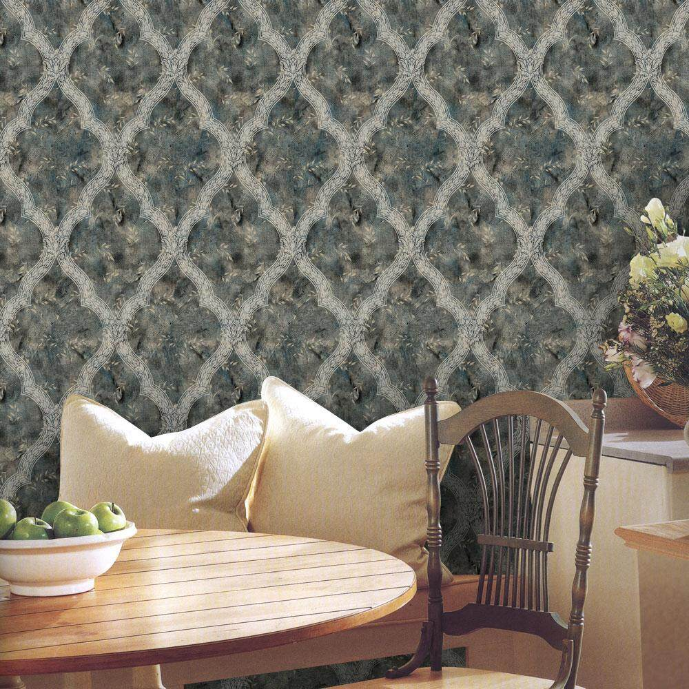 yazhang 3D Waterproof Self Adhesive Wallpaper PVC Wall Stickers For Living Room Bathroom - intl
