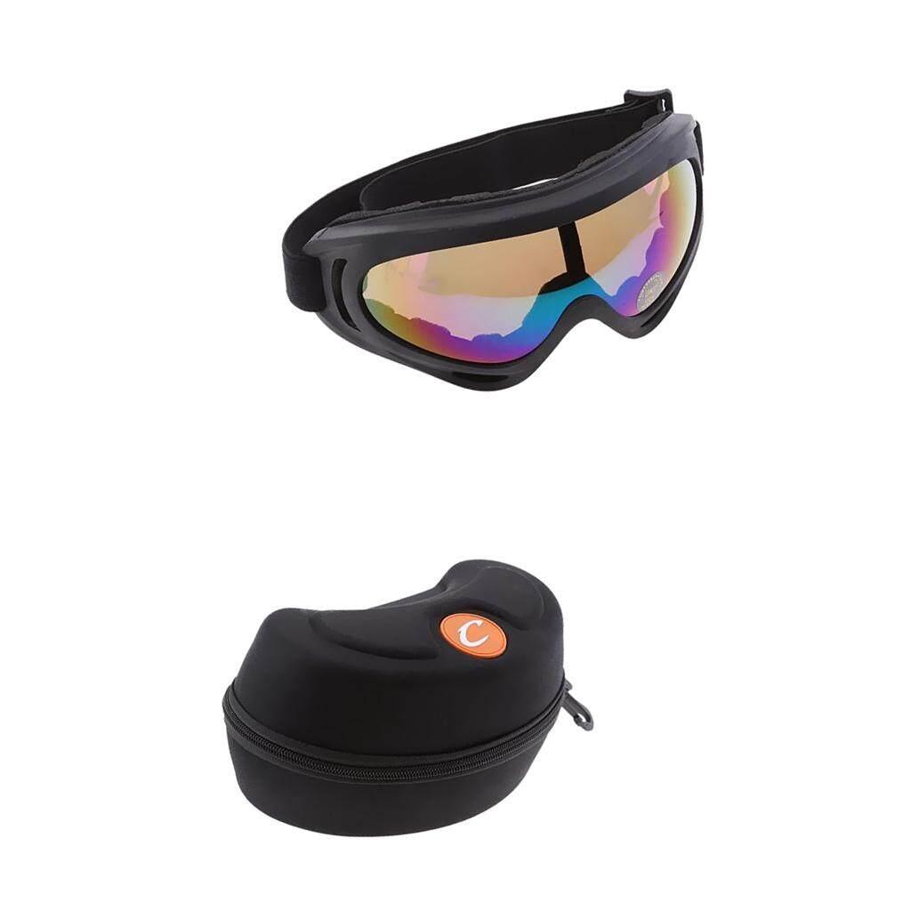 Miracle Bersinar Warna Dapat Disesuaikan Lensa Olahraga Motor Kotoran Sepeda Kacamata Olahraga dengan Kotak Penyimpanan-