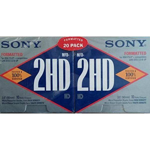 Media Kosong Sony 3.5 MFD-2HD Diformat Documents, 20 Pack-Intl