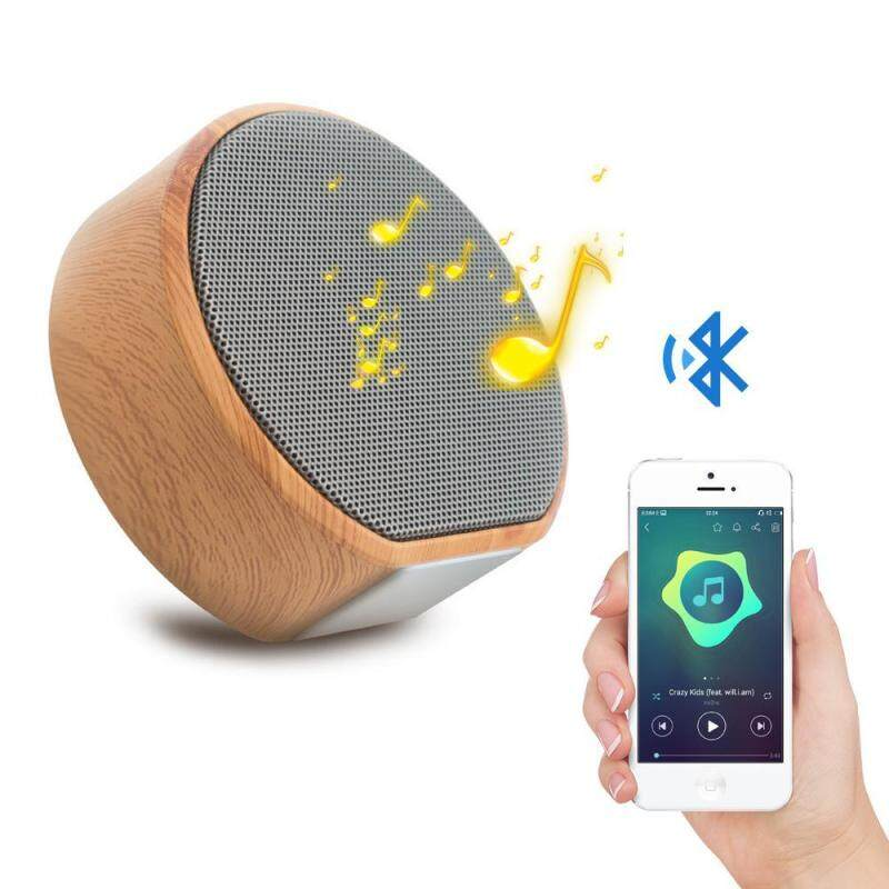 niceEshop Portable Mini Wireless Bluetooth Speaker,Wood Grain Stereo Outdoor Speaker With HD Audio And Enhanced Bass, Built-in-Mic Speakerphone And TF Card Play Music Singapore