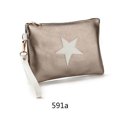 Women Star Pouch Bag Trendy Kpop Style Wrist Hand Bag Ladies Fashion Clutch Bag