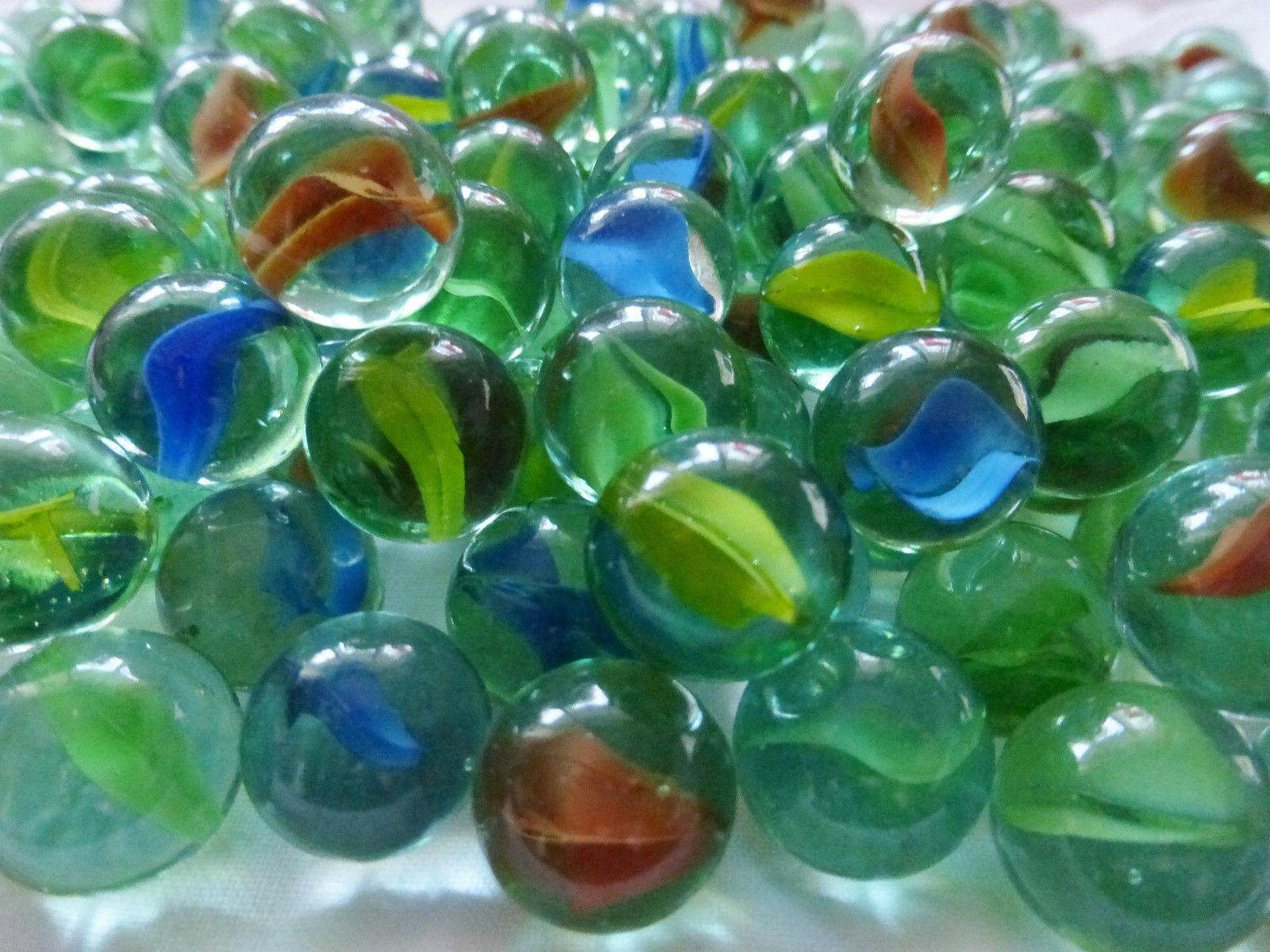 78 pieces Glass Marbles 15mm. Ship within 6 hours (Green)