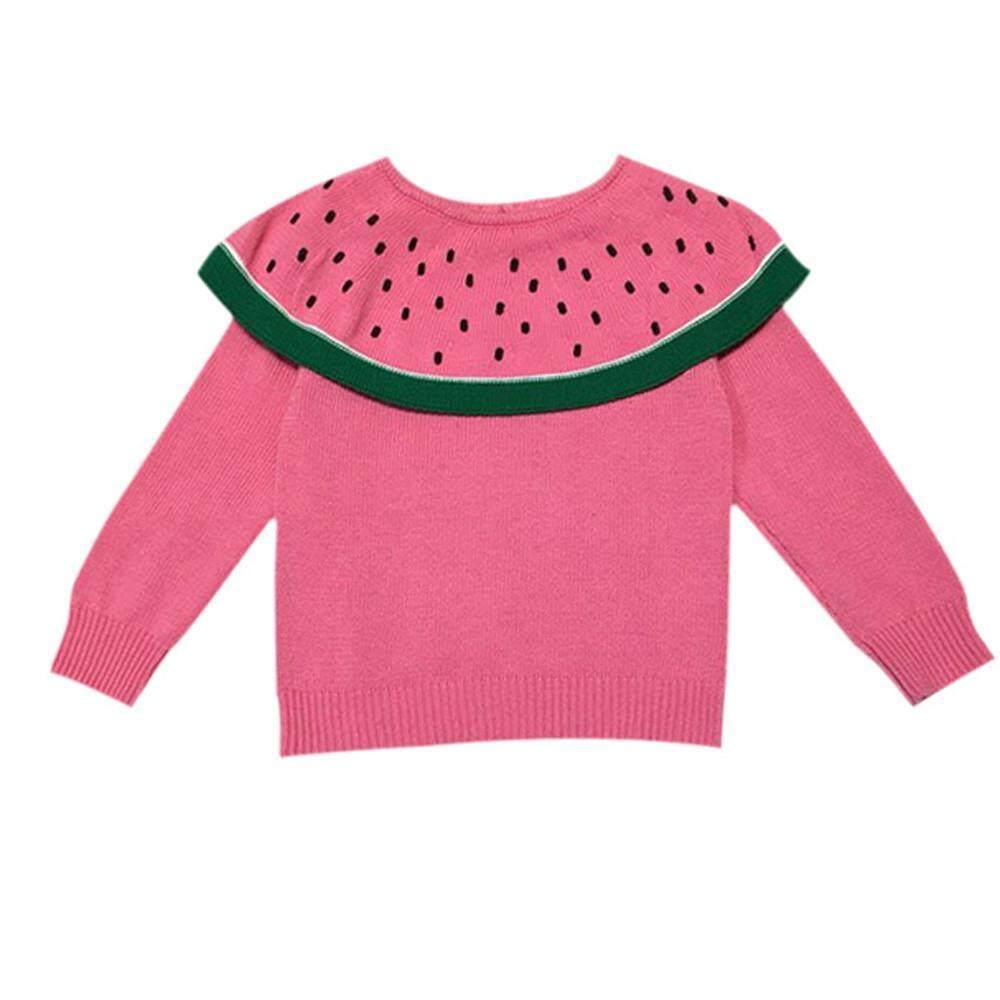 Tideshop Balita Anak-Anak Bayi Gadis Lengan Panjang Laki-Laki Semangka Rajutan Tops Sweater By Tideshop.