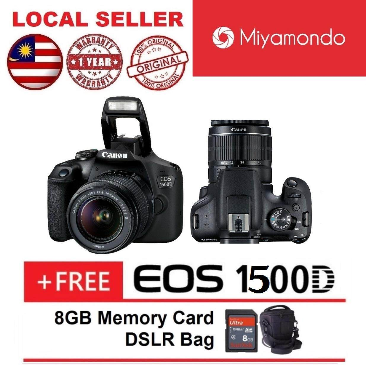 Canon EOS 1500D 18-55mm Kit + 8GB + Bag