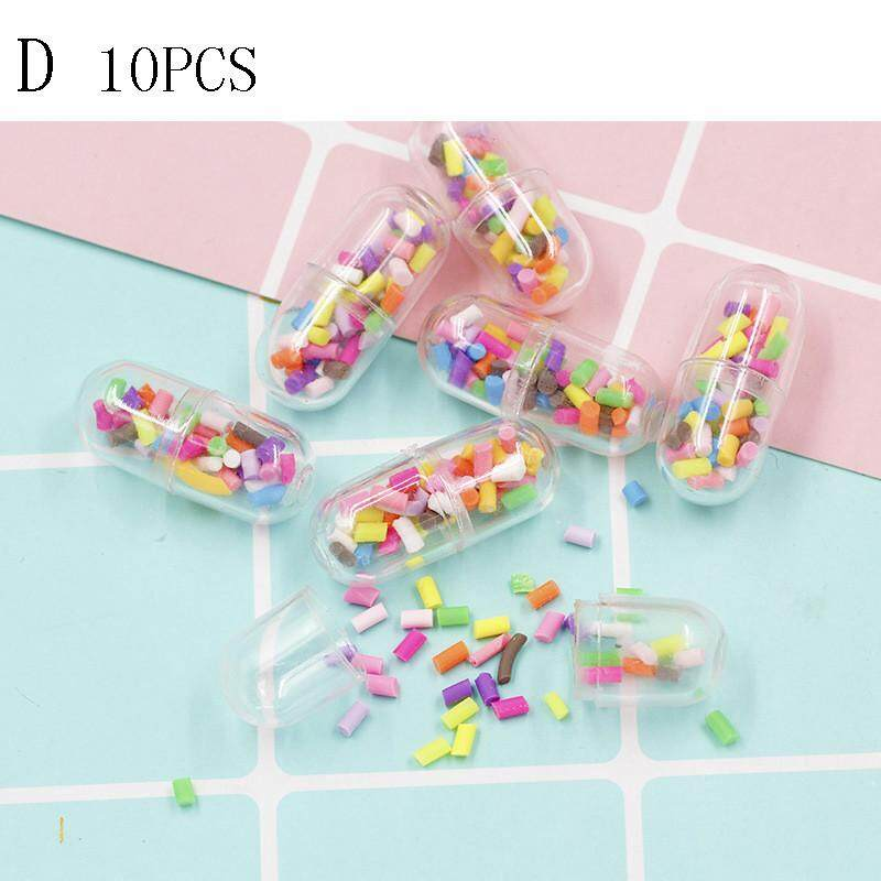 20pcs Mini Craft In A Bottle Cute Capsule Pill Full Clear Color Diy Decor Craft A By Blowing Snow.