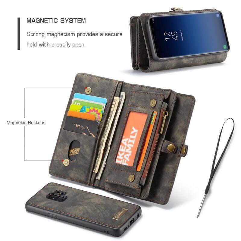 Fitur Caseme Pu Leather Magnetic Case For Samsung S9 Case Wallet