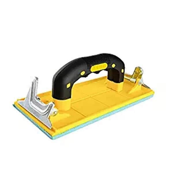 Sandpaper Holder with Hand Grip Handheld Sand Paper Frame Grinding Polished Tools For Walls Woodworking Polishing Sanding Tools Abrasive Tools (Yellow)