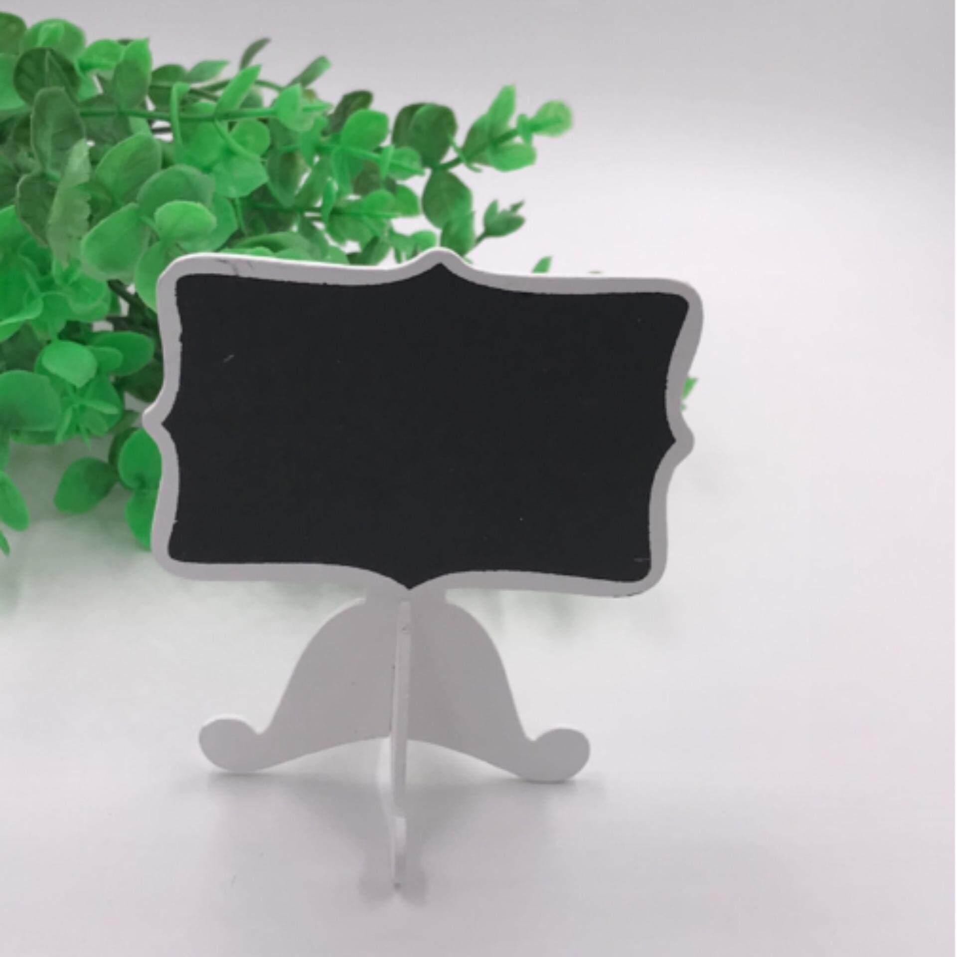 Hình ảnh Mini Wooden Chalkboard Blackboard Message Table Number Wedding Party Decor White - intl