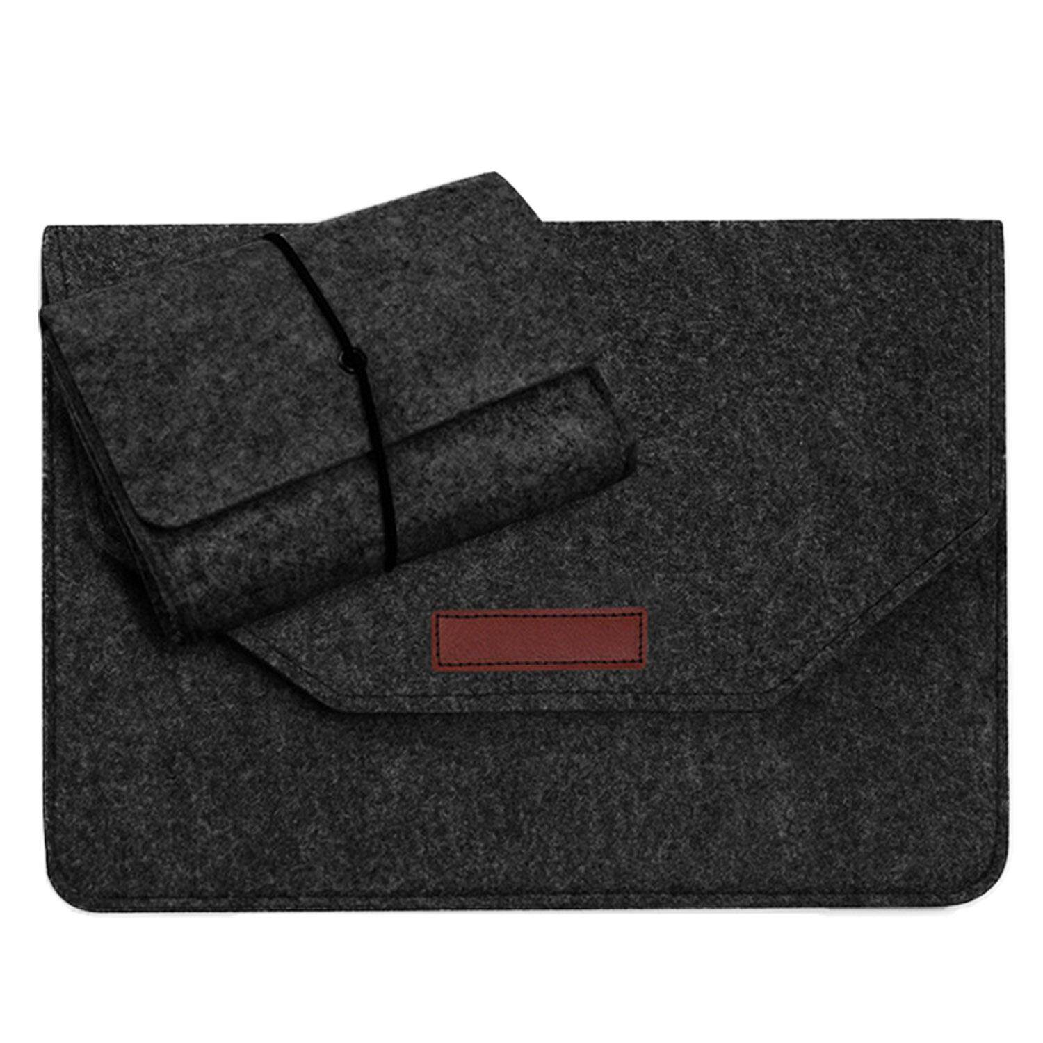 Portable Wear Resistant Protection Felt Sleeve Storage Bag Cover With Charger Pouch Case For Le