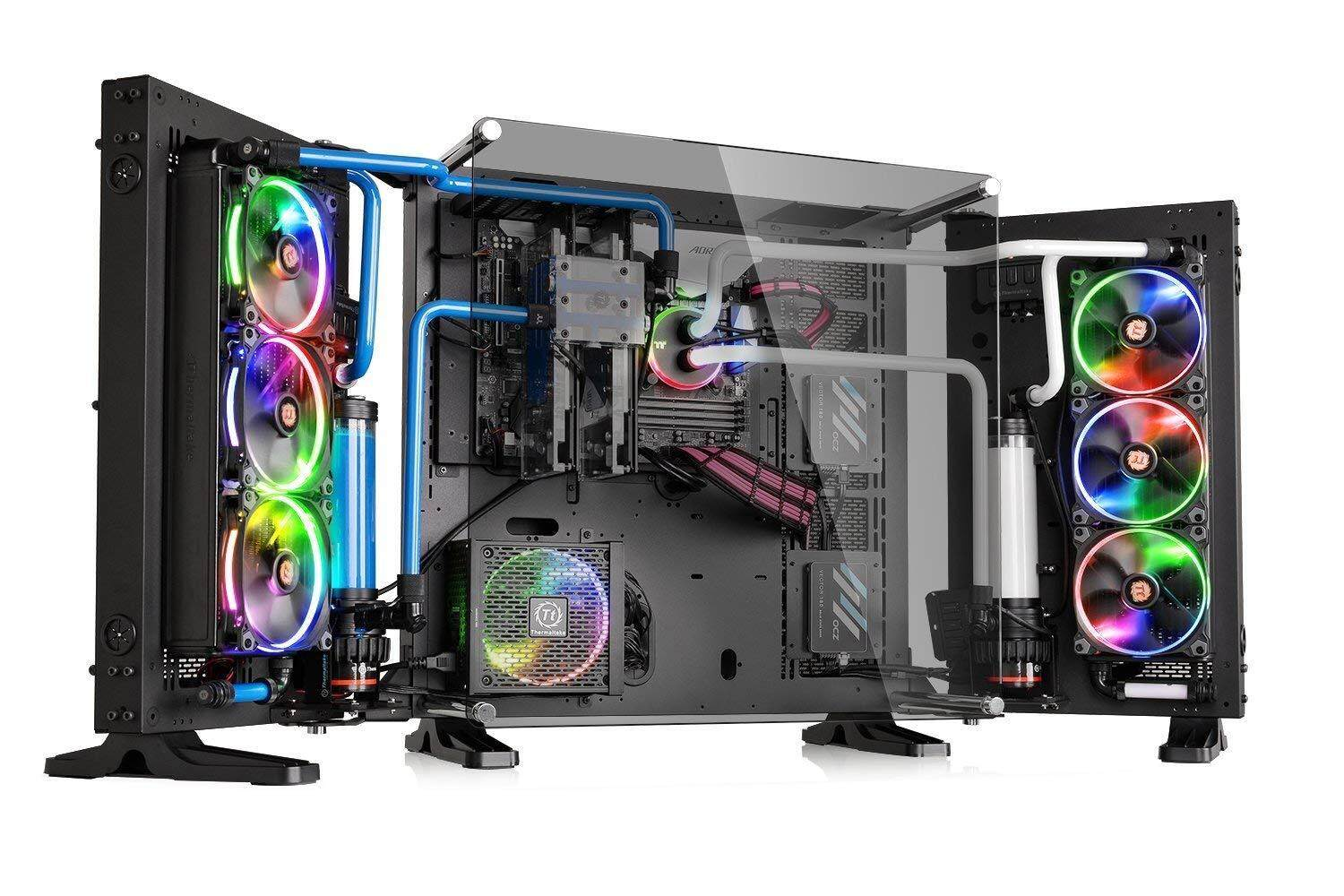 Thermaltake Core P7 Tempered Glass Edition E-ATX Open Frame Panoramic Viewing Gaming PC Computer Case (5mm Tempered Glass) Malaysia