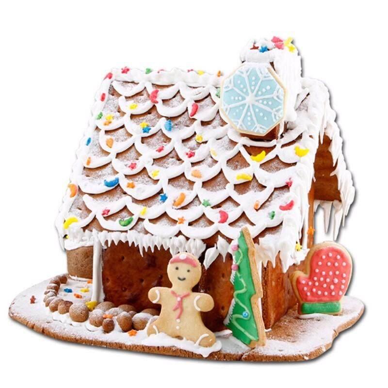 ... 10 Pcs Rumah Natal Kue Pemotong Kue Sugarcraft Cetakan Dekorasi Kue Fondant-Intl - 4 ...