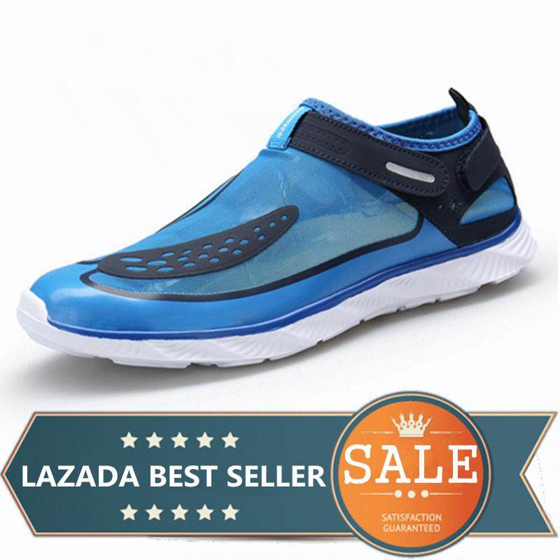 eb608f9b7dbd Men And Women Water Shoes Beach Swim Surf Outdoor Casual Shoes (Blue)