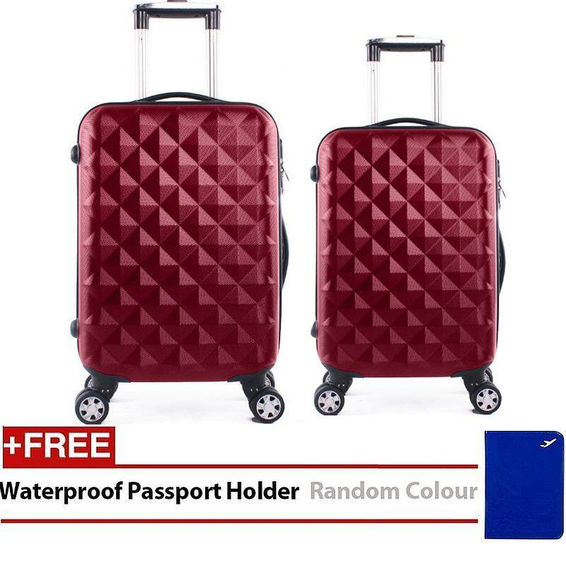 Travel Star SD Series 2 in 1 Luggage Bagasi Set Maroon