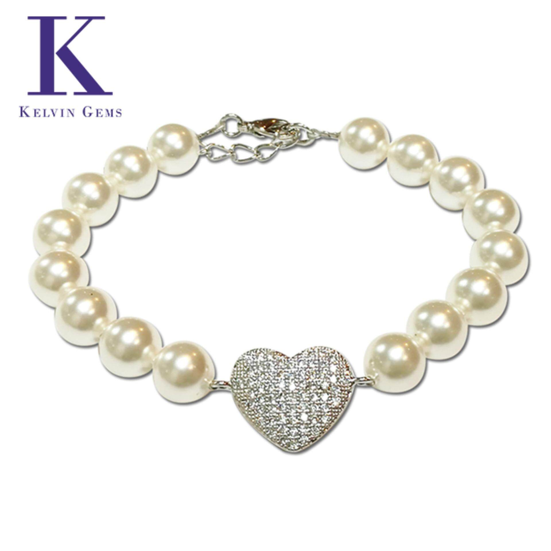 Adore White Swarovski Pearl Bracelet Crafted By Angie