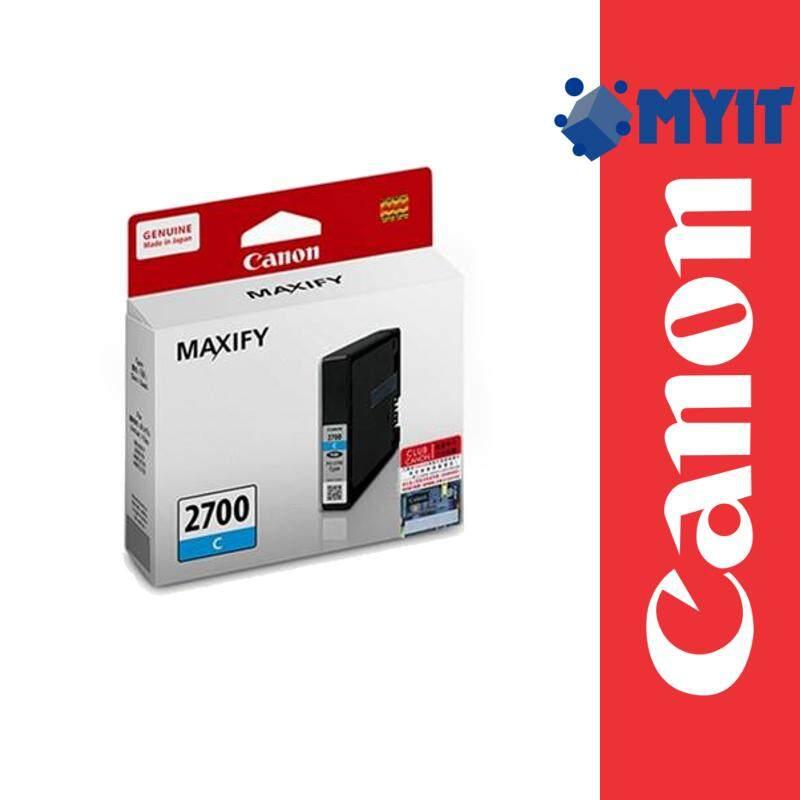 Canon Original PGI-2700 Cyan Color Ink Cartridge for MAXIFY iB4170 MB5170 MB5470 PGI2700 PG2700