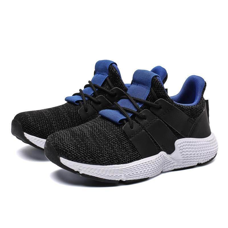 ... Chuangyu Anak Laki-laki dan Anak Perempuan Bernapas Sneaker Tenun Anak  Sepatu Lari Kasual - c0a111ce0c