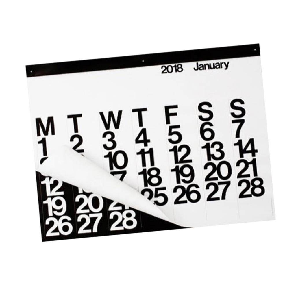 Fityle Black Ink Printed Calendar - Premium Wall Hanging 2018 Calendar - Home Decor