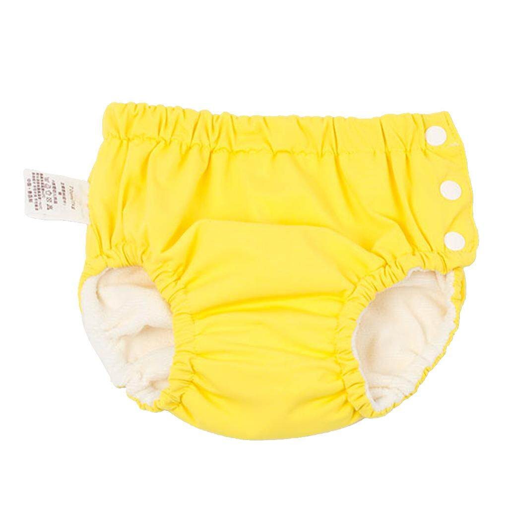 Magideal Baby Swim Diaper Reusable Absorbent Washable Nappies Yellow (for5-10kg) By Magideal.