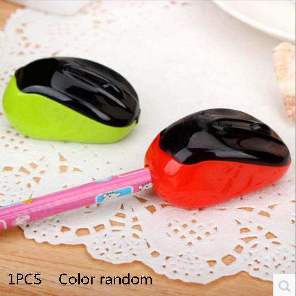 2 Pcs Cute Kreatif Mouse Rautan Pensil Plastik Rautan Pensil Mini Perlengkapan Sekolah Pemotong Plastik Pisau #907