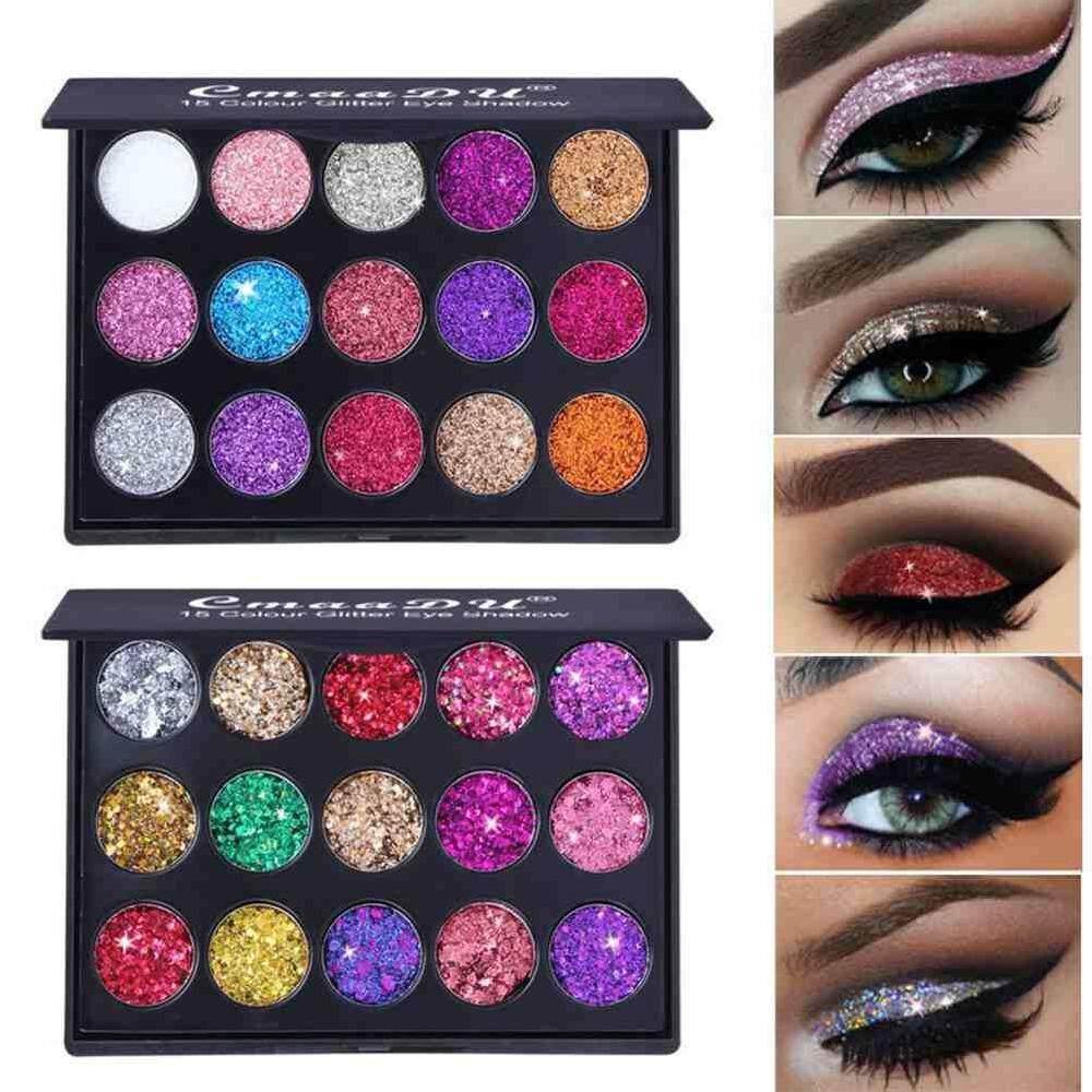 Detail Gambar Dongxi Cmaadu 15 Warna/Set Diamond Payet Eyeshadow Tahan Air Mengkilap Glitter Glitter