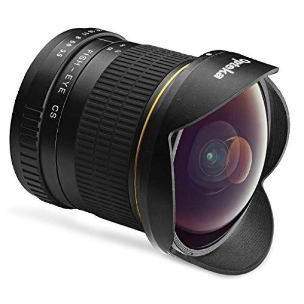 Opteka 6.5 Mm F/3.5 HD Aspherical Lensa Mata Ikan & Removable Hood untuk Canon EOS 80D, 77D, 70D, 60D, 60Da, 50D, 7D, 6D, 5D, 5DS, 1DS, T7i, t7s, T7, T6s, T6i, T6, T5i, T5, SL2 dan SL1 Digital Kamera SLR-Intl