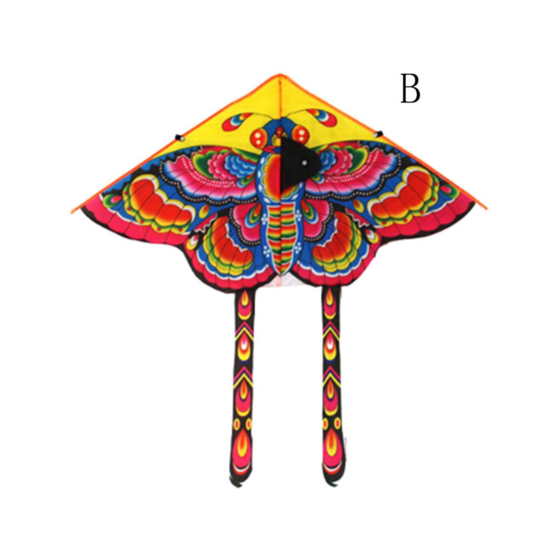 90*55cm Nylon Rainbow Butterfly Kite Outdoor Foldable Children'S Kite Stunt  Kite Surf Without Line A