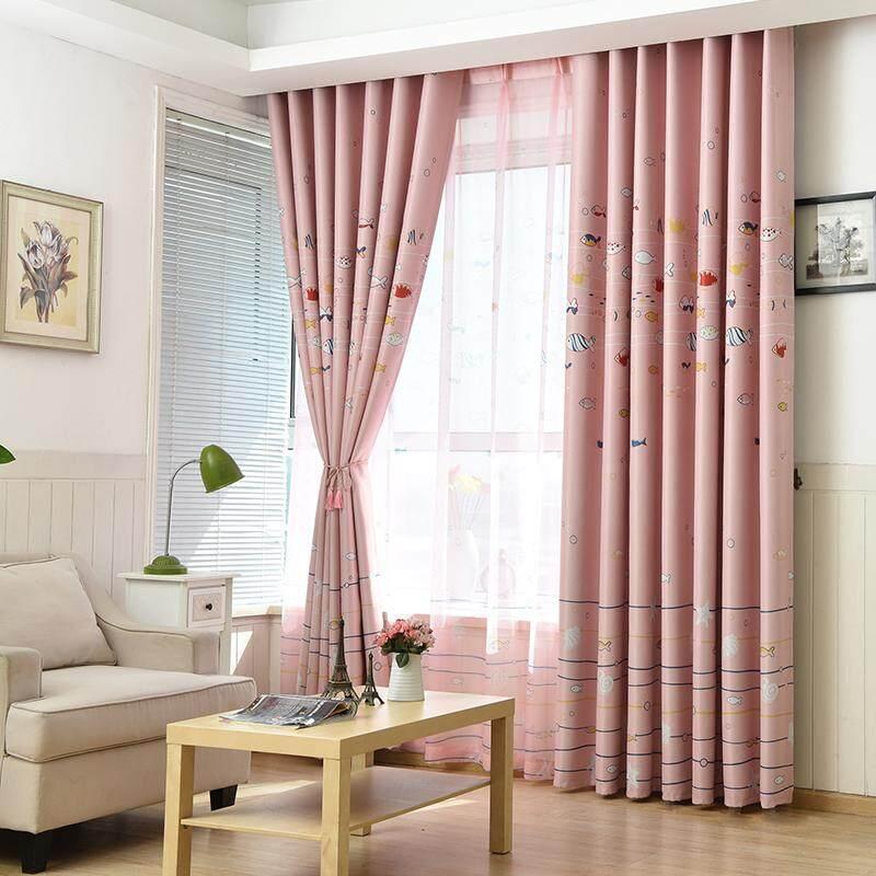 [OrangeHome] 200*230 CM (1 pc) Blackout Curtain Drape Hook Window Room Bedroom Balcony Multicolor A01-FSXY - intl