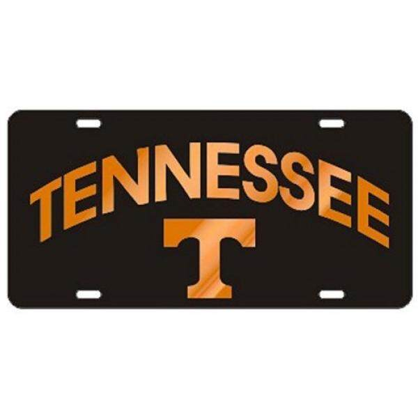 Tennessee Volunteers Black TN/T Laser Cut License Plate / From USA