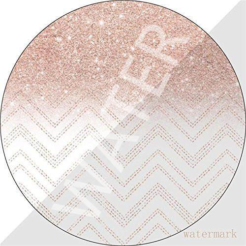 Mouse Pad Gaming Chic Faux Rose Gold Glitter Ombre Chevron 7 Inches 1M721, Premium-Textured Surface, Non-slip Rubber Base, Laser & Optical Mouse Compatible, Mouse mat Malaysia