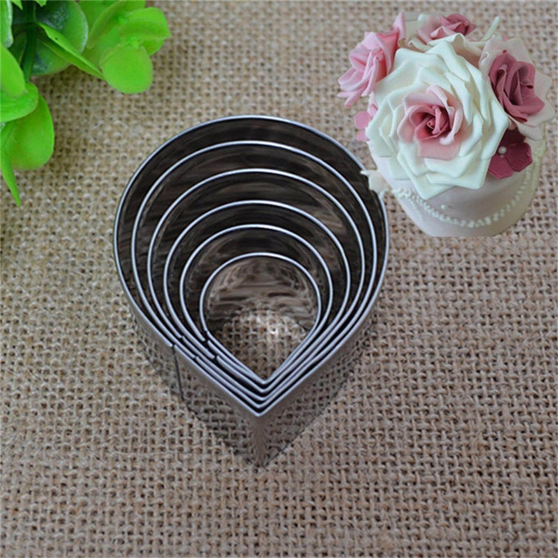 6 Pcs/set Dekorasi Keik Fondant Cetakan Hiasan Gula Pada Kue Alat Kelopak Mawar Cetakan