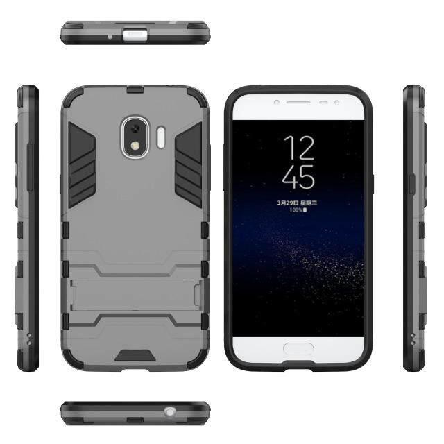 Untuk Samsung Galaxy J2 Pro 2018 Plastik Keras Silikon Lembut Pelindung Hibrid Anti