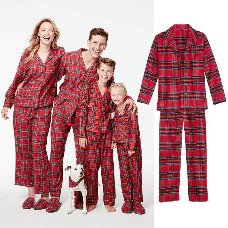 1d207f3c7f Christmas Family Matching Pajamas Set Adult Women Kids Sleepwear (Women)